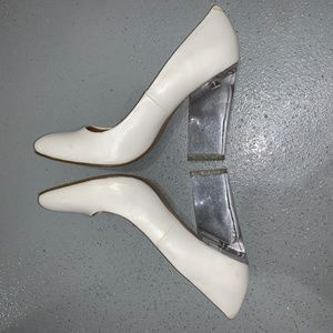 Nasty Gal - Clear Heels - White